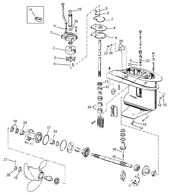 Mercury 850 Lower Unit Diagram