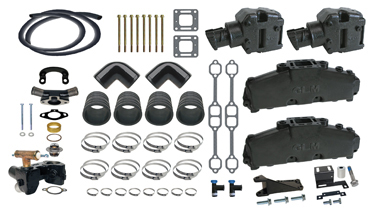Mercruiser 5.0l & 5.7l Exhaust Manifold Conversion Kit